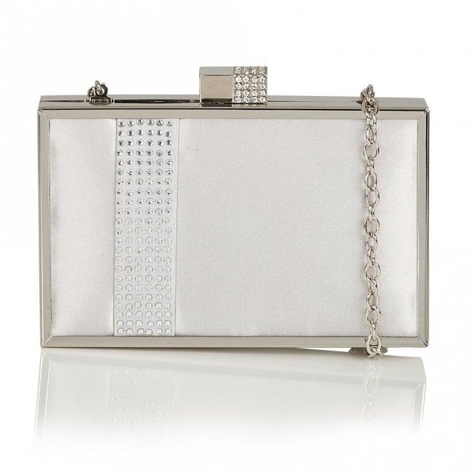 Lotus Hallmark Rhiannon Silver Satin Clutch Bag