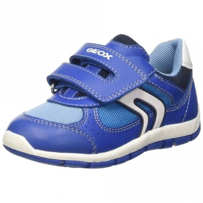 Geox B Shaax B. D Royal Blue Velcro Boys Shoe