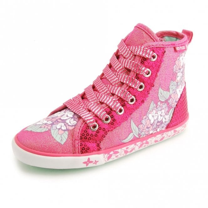 Start-rite Summer Harmony Girl's Pink Sparkle Canvas Shoe Boot