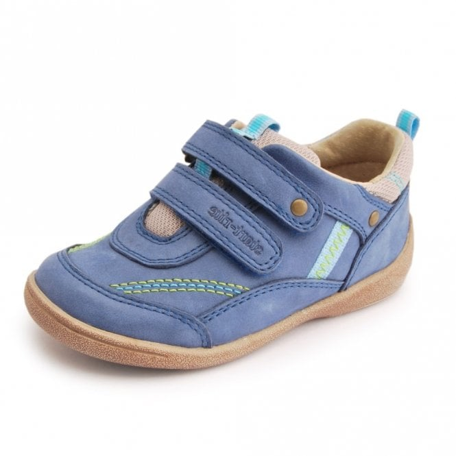 Start-rite SR Super Soft Leo Light Blue Leather Boys Shoe