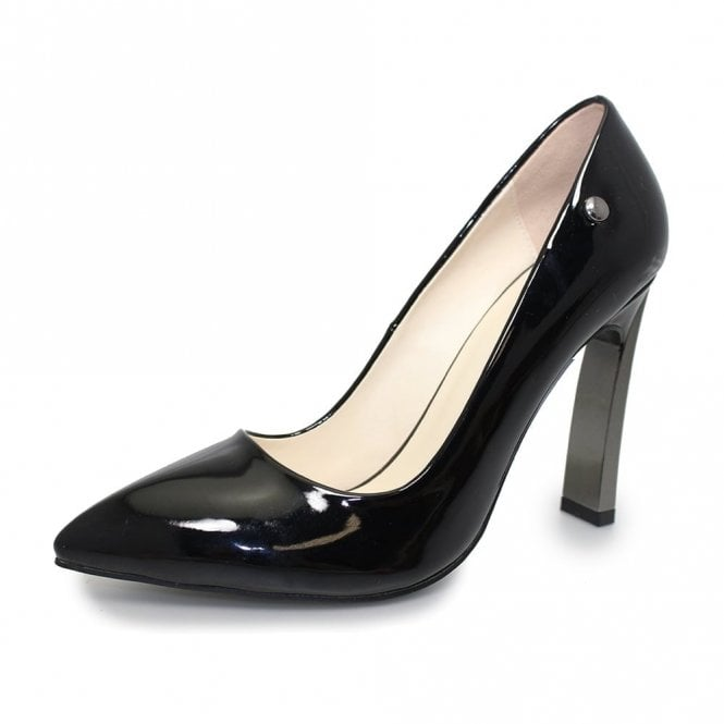 Lunar Zoe FLC157 Black Patent Court Shoe