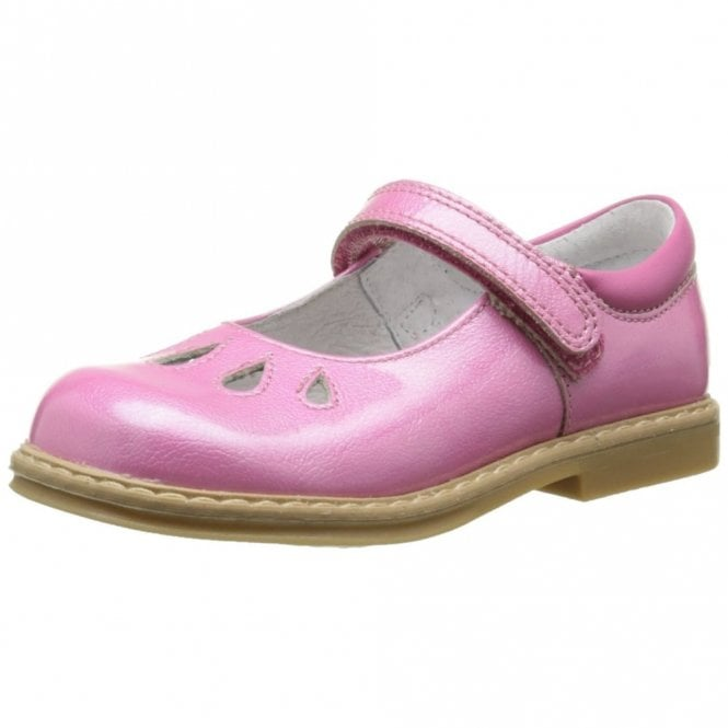 Start-rite Tamara Bright Pink Patent Velcro Girls Shoe