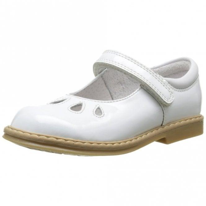 Start-rite Tamara White Patent Velcro Girls Shoe