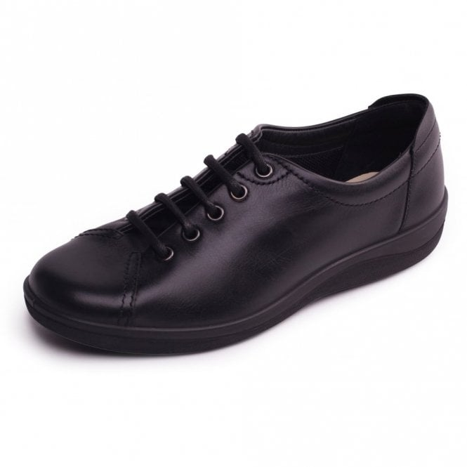 Padders Galaxy 2 Black Leather Lace Up Shoe
