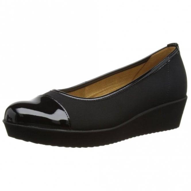Gabor Orient 86.471.87 Black Patent Pump Shoe