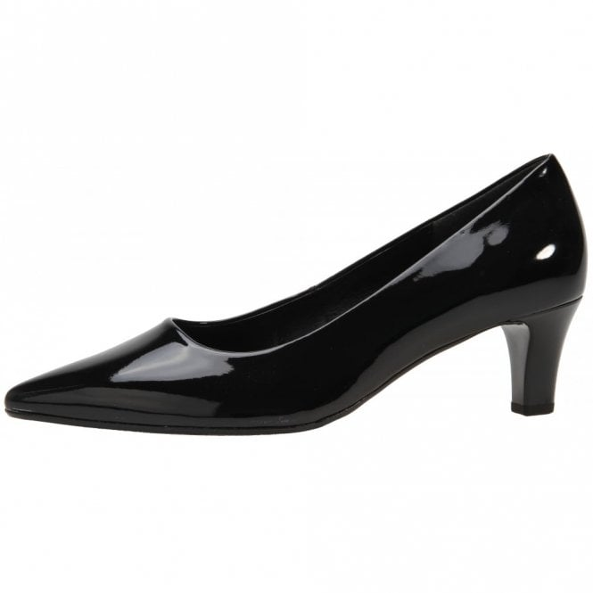 Gabor Arnica 2 51.250.77 Black Patent Court Shoe