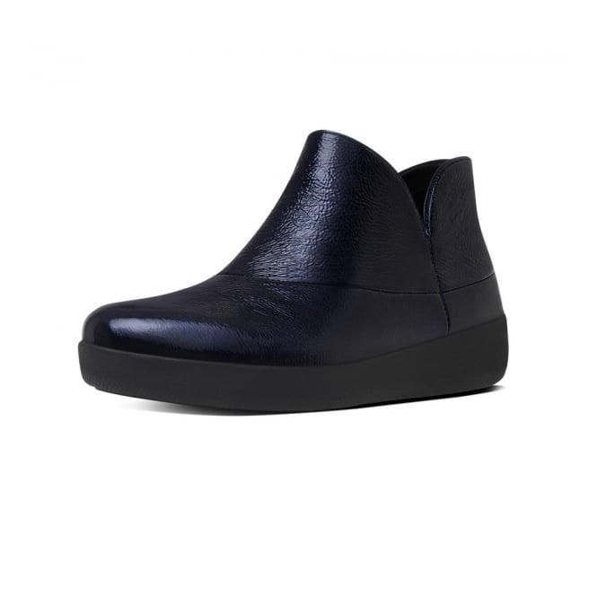 FitFlop Supermod Inky Blue Patent Ankle Boot