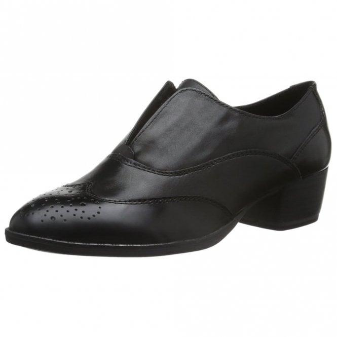Tamaris 24303-27 Black Leather / Synthetic Brogue Shoe