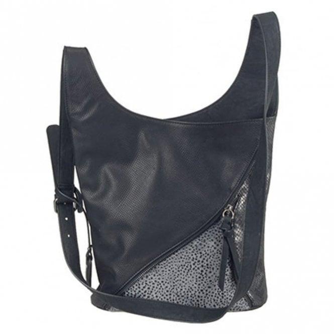 H1428-00 Black Crossover Handbag