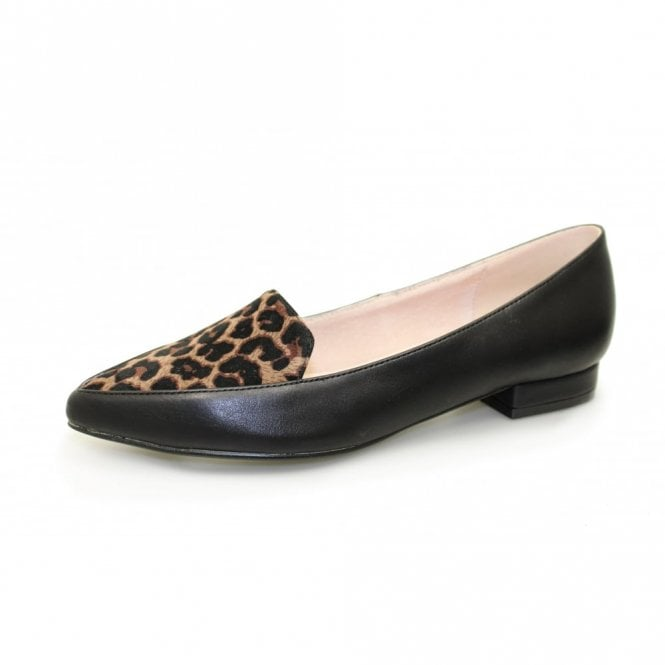 Lunar Victoriana FLC010 Black Animal Print Pump Shoe
