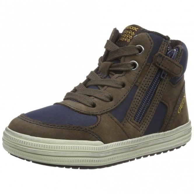 Geox J Elvis B Brown / Navy Boys Boot