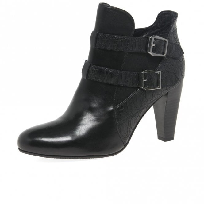 Gerry Weber Fabia 01 Black Leather Ankle Boot