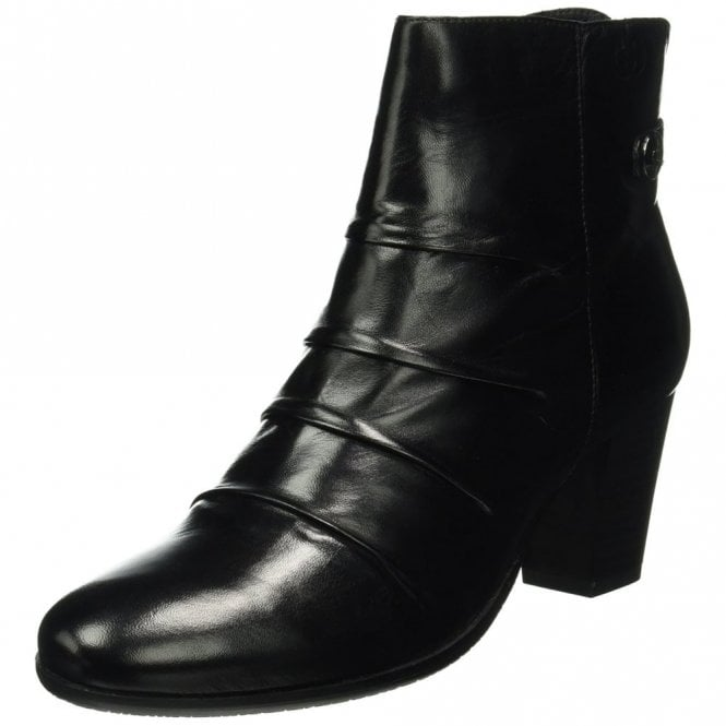 Gerry Weber Villa 04 Black Leather Ankle Boot