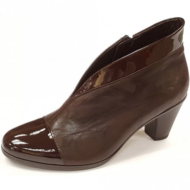 Gabor Enfield 55.616.98 Brown Patent / leather Ankle Boot