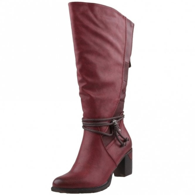 Rieker 96058-35 Red Leather Long Legged Boot
