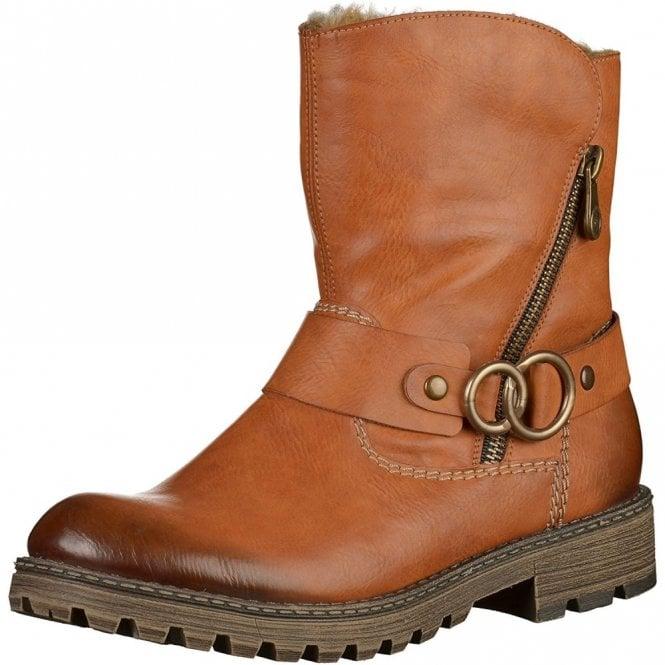 Rieker Y6767-24 Tan Warm Lined Boot