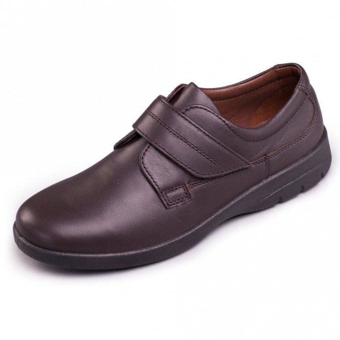 Padders Air Brown Leather Velcro Shoe