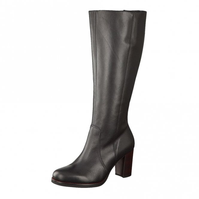 Gabor Collier M 51.749.27 Black Leather Long Boot