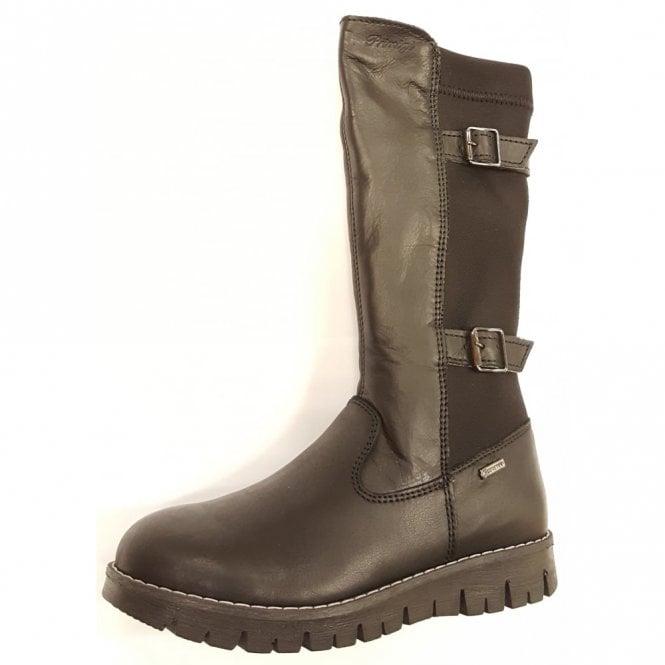 Primigi Benny Black Leather / Stretch Goretex Waterproof Girl's Boots