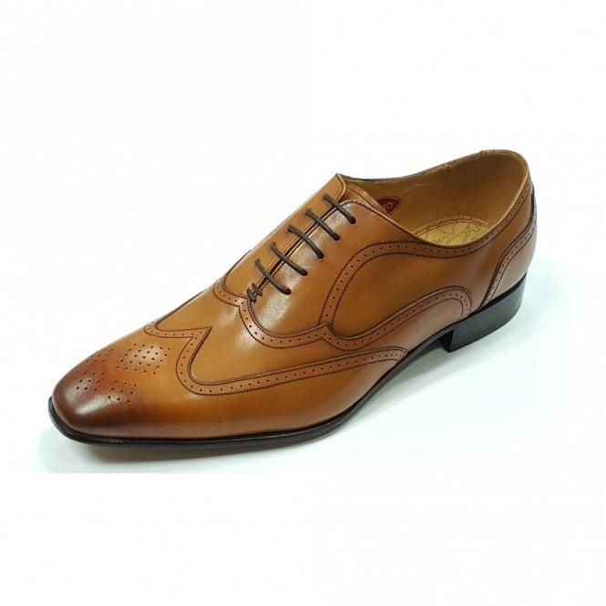 Barker Camden Cedar Brown Leather Brogue Lace up Shoe