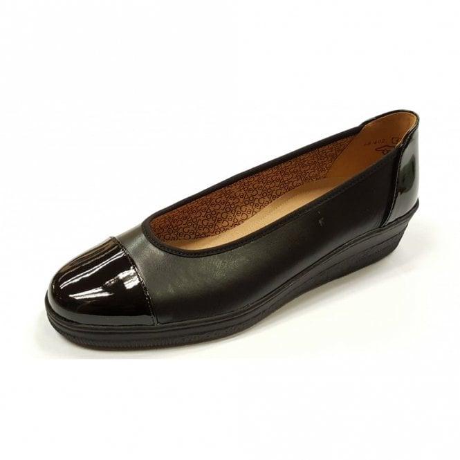 Gabor Petunia 66.402.67 Black Leather / Patent Pump Shoe