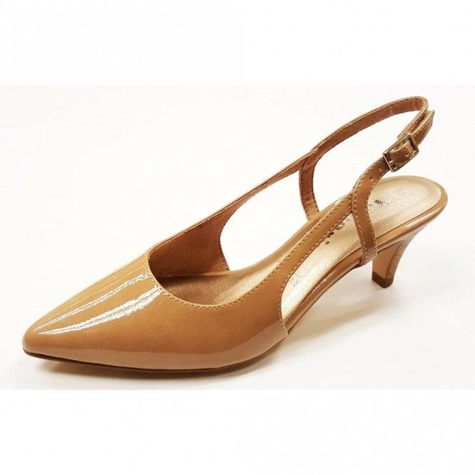 Tamaris 29601-28 Nude Patent Sling Back Shoe