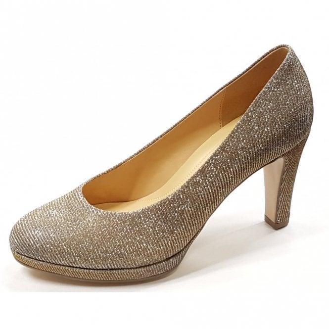 Gabor Splendid 61.270.62 Silver / Gold Glitter Court Shoe