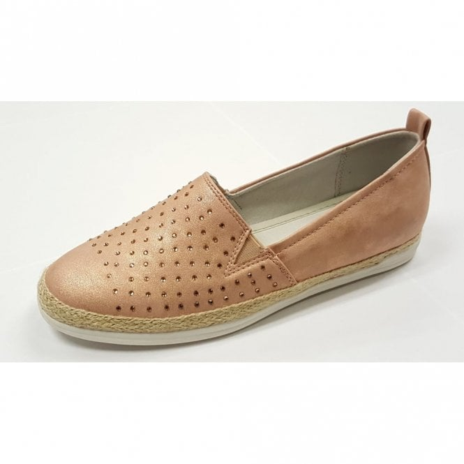 Jenny 57430-77 Pink Rose Gold Slip On With Diamontes