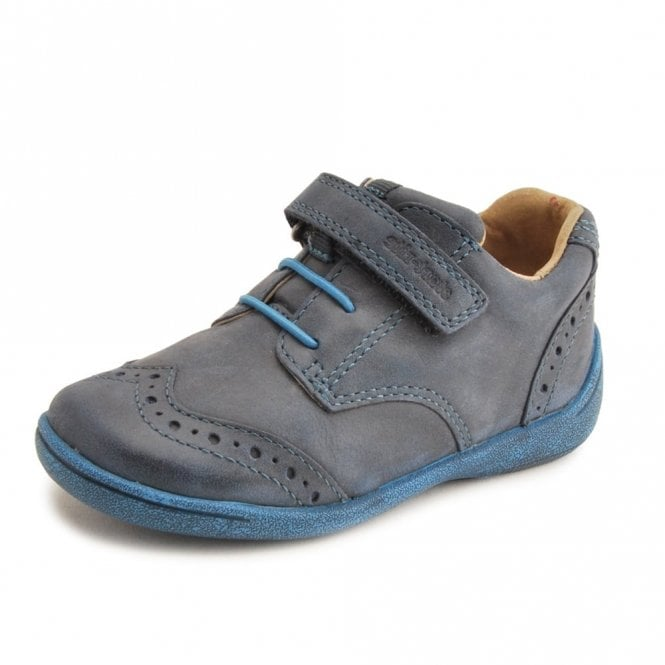 Start-rite SR Super Soft Hugo Navy Leather Boys Shoe