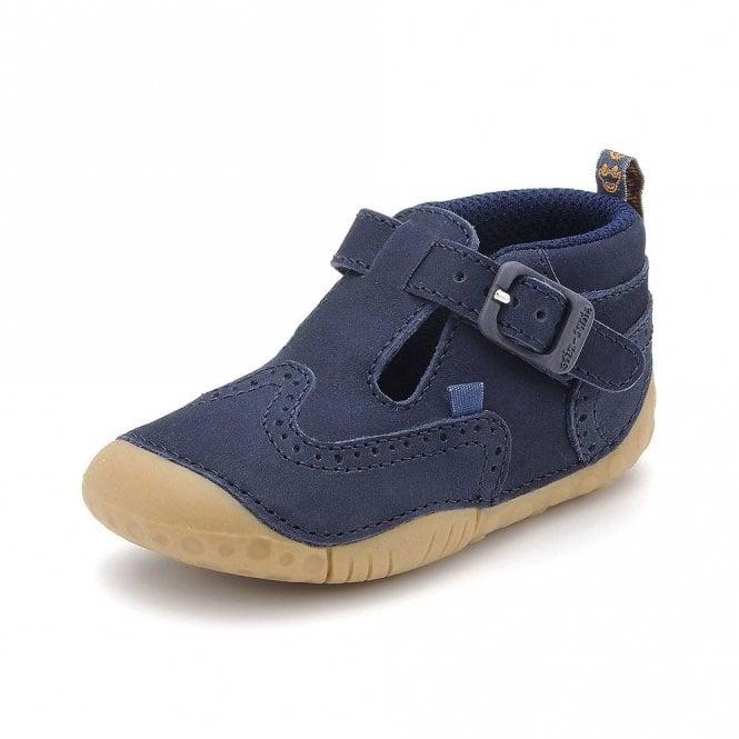 Start-rite Harry Navy Nubuck Leather Boys First Shoe