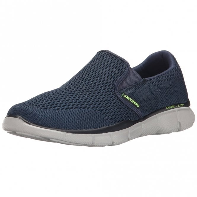 Skechers Equalizer - Double Play Navy Knit Mesh Trainer