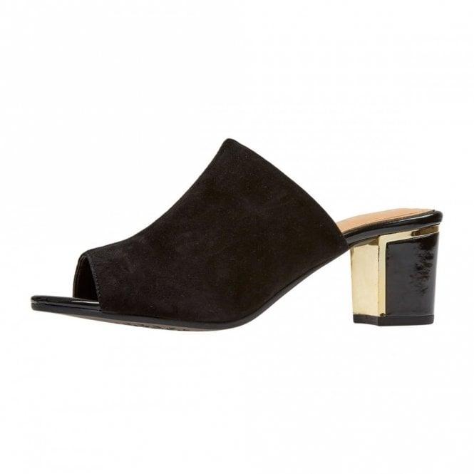 Van Dal Hay Black Suede Mule Sandal