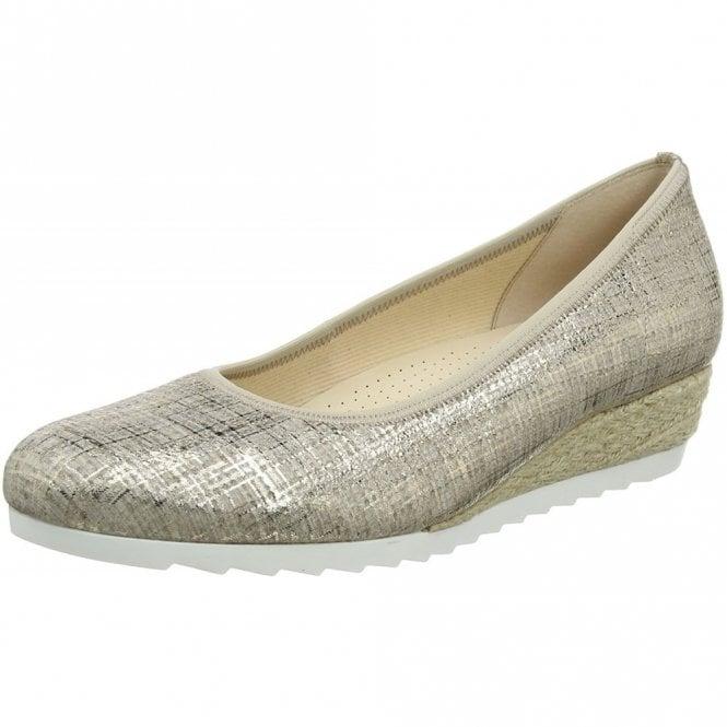 Gabor Epworth 82.641.65 Cotton Metallic Pump Shoe