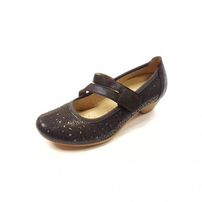Remonte Dorndorf D5006-14 Navy Leather Velcro Shoe