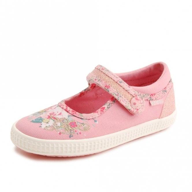 Start-rite Elsie Girl's Pink Velcro Canvas Shoe