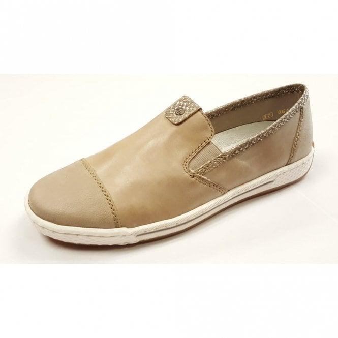L3051-60 Marble Leather Ladies Slip On Shoe