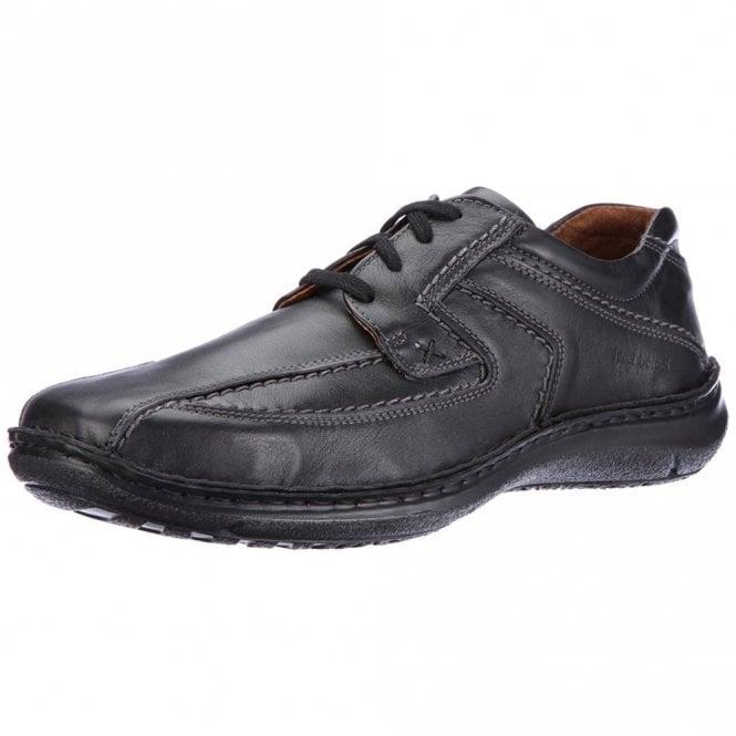 Josef Seibel Anvers 08 Black Leather Lace Shoe