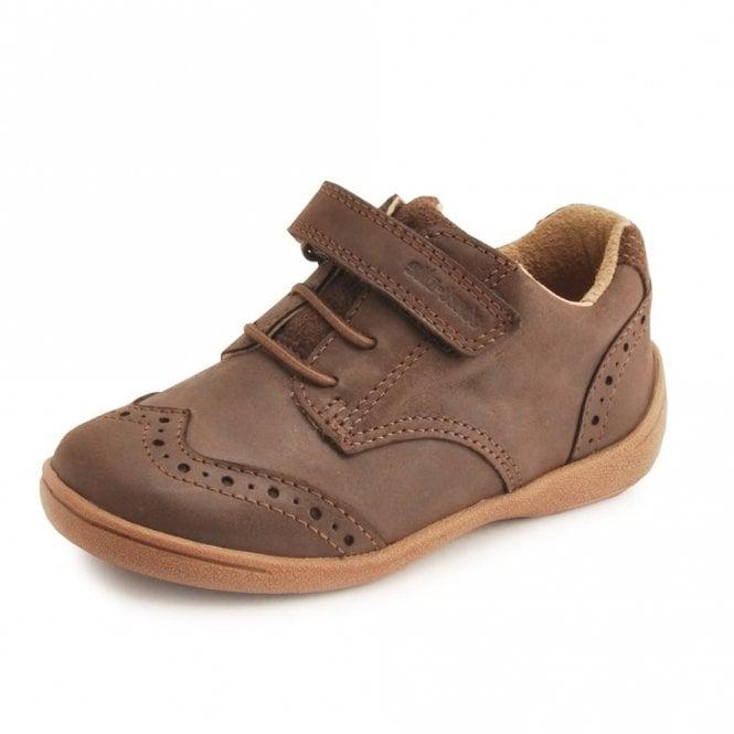 Start-rite SR Super Soft Hugo Brown Leather Boys Shoe