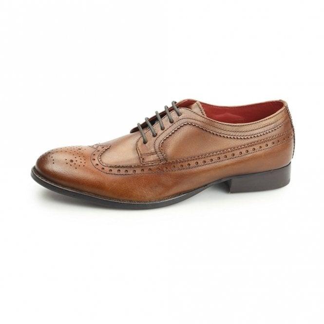Base London Bailey Tan Leather Lace Derby Brogue Shoe
