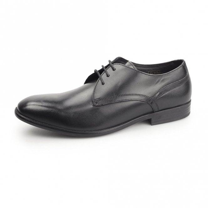 Base London Page Black Waxy Leather Lace Shoe