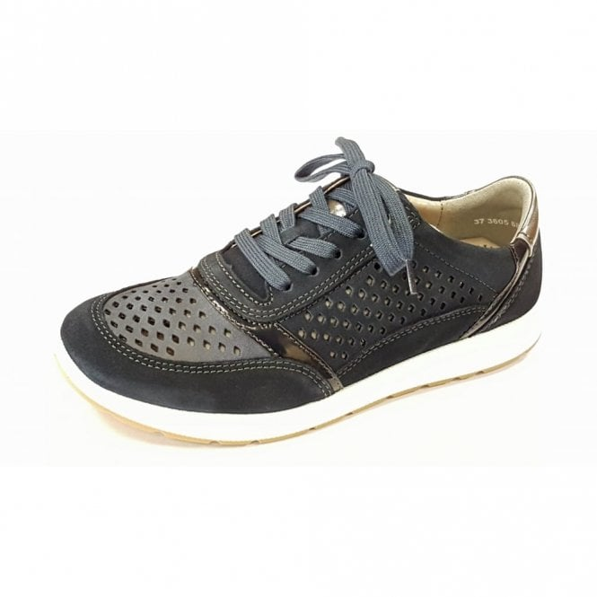 Jenny 59510-06 Navy Suede Trainer Style Shoe