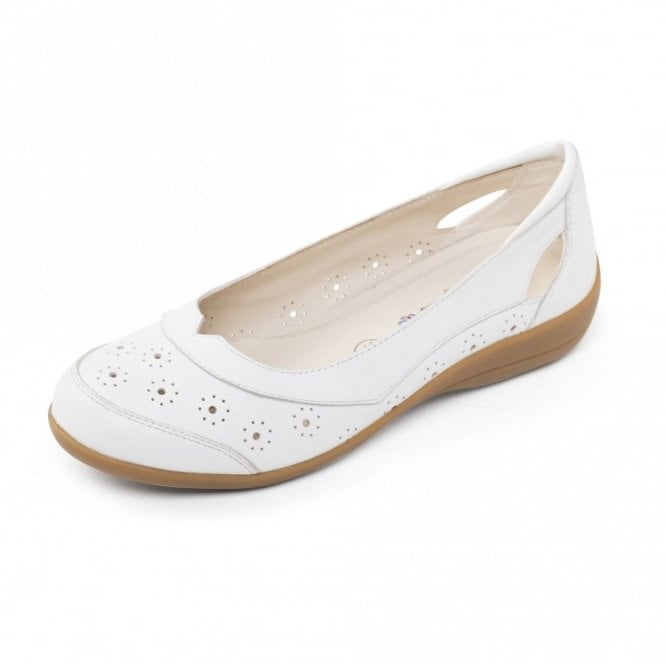 Padders Demi 2 White Leather Comfort Shoe