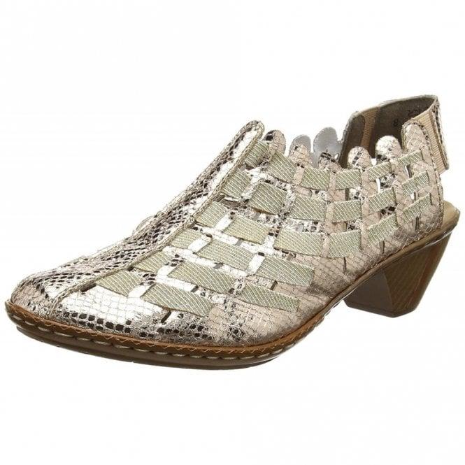 Rieker Newark 46778-90 Rose Gold Leather Shoe