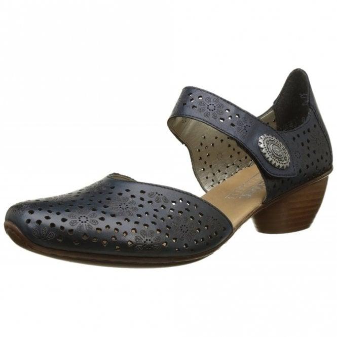 Rieker 43711-15 Navy Leather Court Shoe
