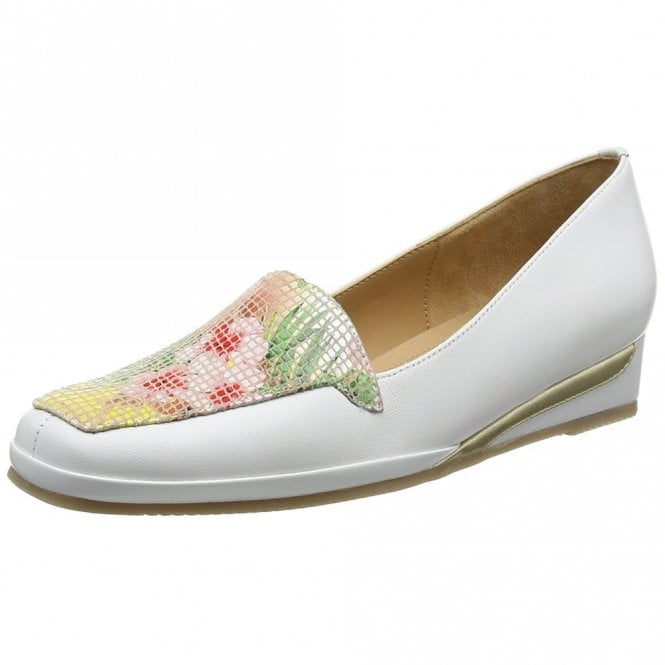 Van Dal Verona III Tropical Flower Print / White Wedge Shoe