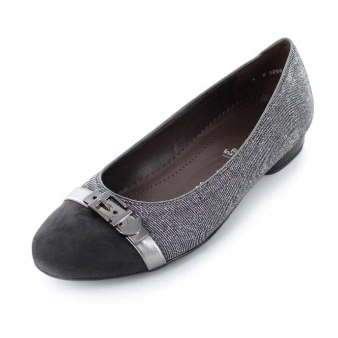 Ara 63374-29 Grey With Glitter Fabric Pump