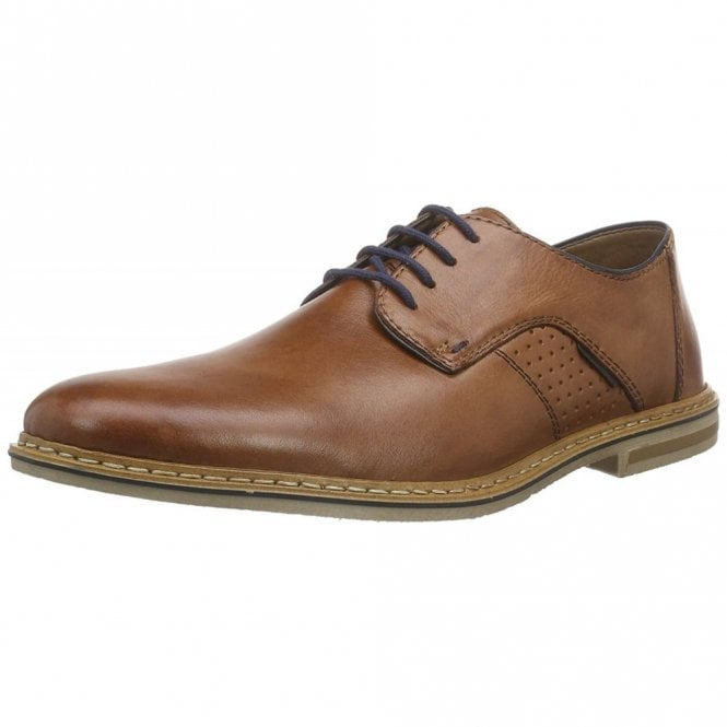 Rieker Cristallin 14525-24 Brown Leather Lace Up Shoe