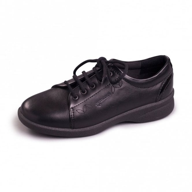 Padders Refresh 2 Black Leather Lace Shoe