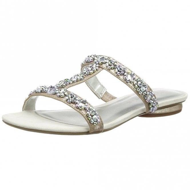 Tamaris 27191-20 Silver Sandal With Diamontes