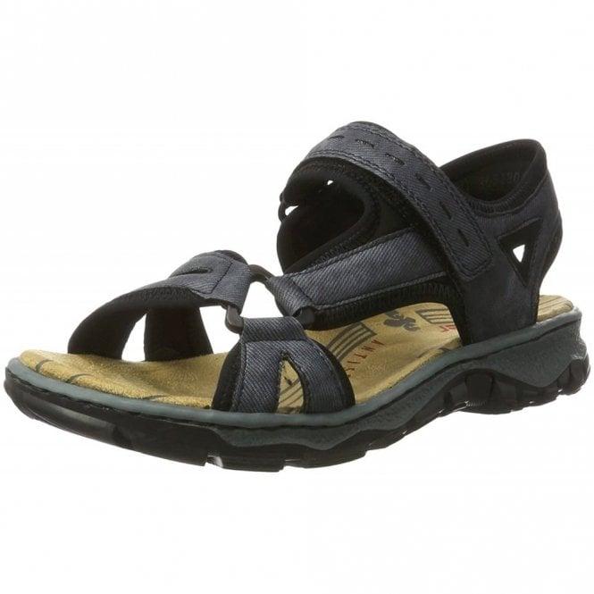 Rieker 68879-14 Navy Ladies Velcro Sandal